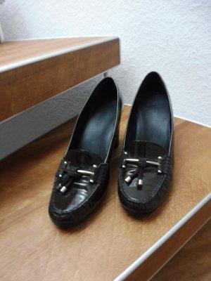 Geox Chaussure décontractée kaki-noir cuir
