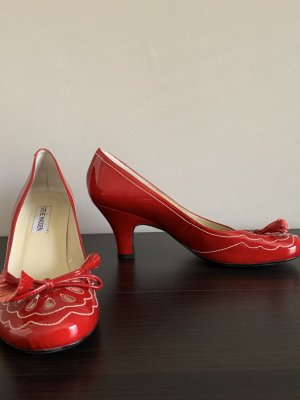 Pumps Lackpumps von Steve Madden - Burlesque Rockabilly rot Lackleder