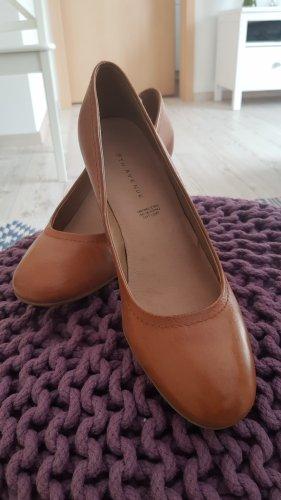 5th Avenue Chaussure à talons carrés cognac