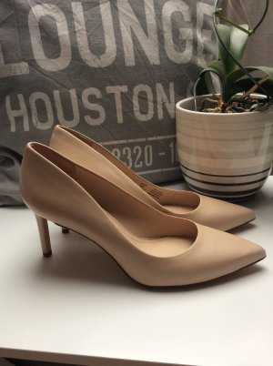 Pumps Leder nude
