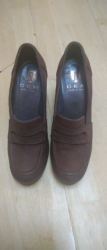 Pumps Leder Schuhe braun neuwertig made in Italy