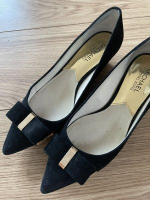 Michael Kors Wedge Pumps black-gold-colored
