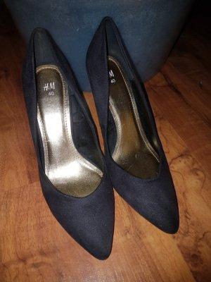 H&M Classic Court Shoe black-yellow mixture fibre