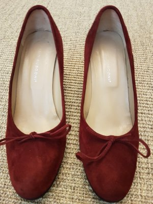 Fabio Rusco Wedge Pumps dark red-bordeaux