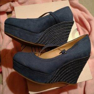 Catwalk Zapatos de cuña azul