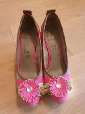 fashletics by Tamaris Pumps met sleehak roze-beige