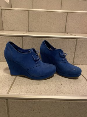 Deichmann Lace-up Pumps blue