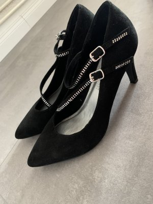 inspiredi shoes Strapped pumps black-silver-colored