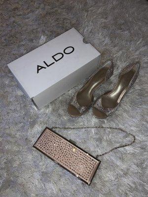 Pumps mit Steinchen (39) + Abendtasche von ALDO