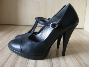 Pumps mit T-Spange in dunkelblau von Ashley Brooke Gr. 38