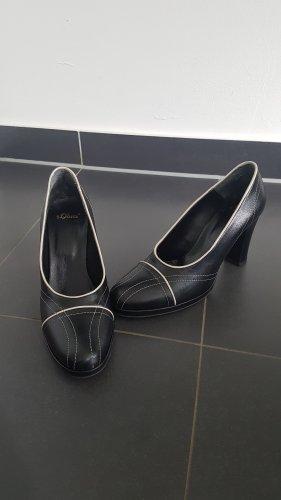 s.Oliver Mary Jane pumps zwart-wit Leer