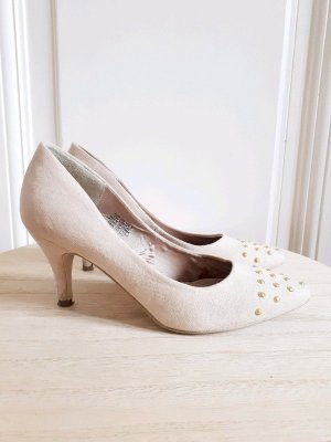 Pumps Nieten Gold