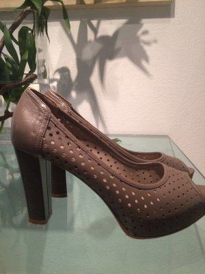 Pumps Peep Toe 38,5 Edel Marke Pino Covertini