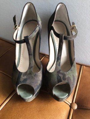 Pumps Peeptoe Mary Jane von OVYE Gr. 38 Camouflage