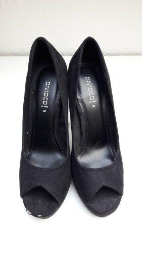 Pumps Peeptoe Schuhe Sandaletten schwarz H&M 38