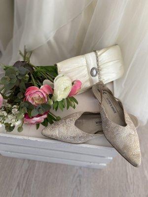 Pumps Peter  Kaiser Gr 4 37 Gold  Brautschuhe Hochzeit