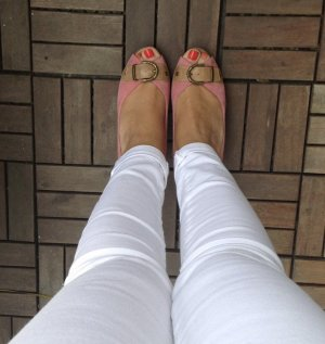 5th Avenue Tacones con punta abierta beige-rosa