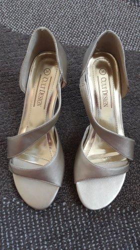 Pumps Sandaletten metallic gold Gr.36