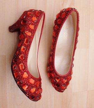 markenlos Chaussure à talons carrés multicolore