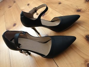 Pumps schwarz 39 High Heels Riemchen Pumps