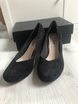 Clanks Peep Toe Pumps black mixture fibre