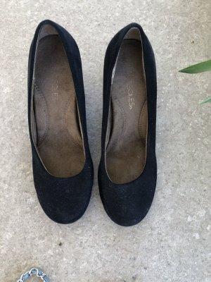 Aerosoles Zapatos de cuña negro