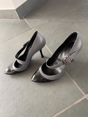 Sergio Rossi Tacones Mary Jane negro-gris