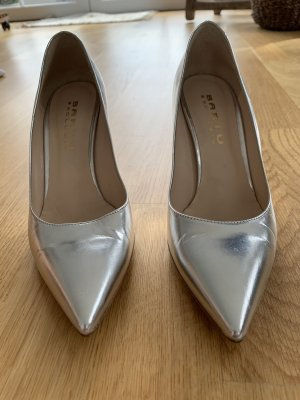 Bartu High Heels silver-colored leather