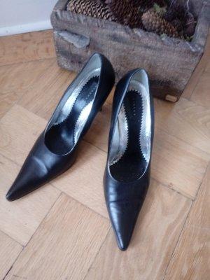 Sisley Décolleté a punta nero-argento Pelle