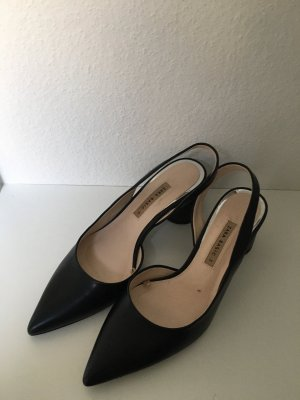 Zara Trafaluc Slingback Pumps black-cream