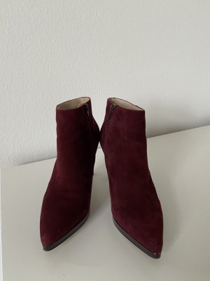 Buffalo Heel Boots bordeaux-blackberry-red