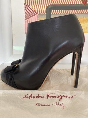 Salvatore ferragamo Platform Booties black
