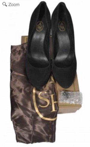 ASH Platform Pumps black leather