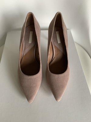 H&M Spitse pumps stoffig roze