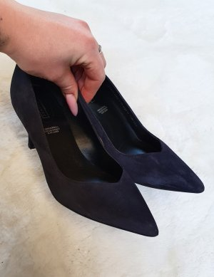 5th Avenue Zapatos de punta negro-azul oscuro