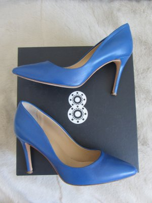 8 High Heels blue leather