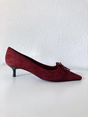 Andrea Puccini Stiletto rouge carmin cuir