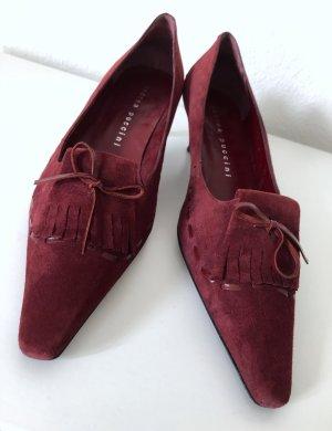 Andrea Puccini Pointed Toe Pumps carmine leather