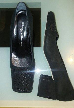 Beverly Feldman Babouche noir tissu mixte