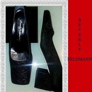 Beverly Feldman Escarpins classiques  noir tissu mixte