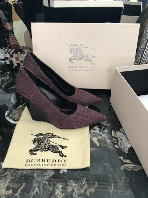Burberry Escarpin compensé violet