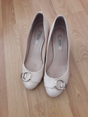 Guess High Heels silver-colored-natural white