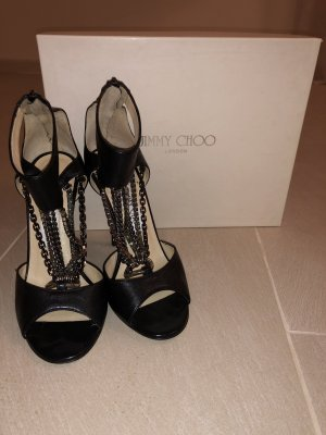 Jimmy Choo Strapped pumps black-silver-colored