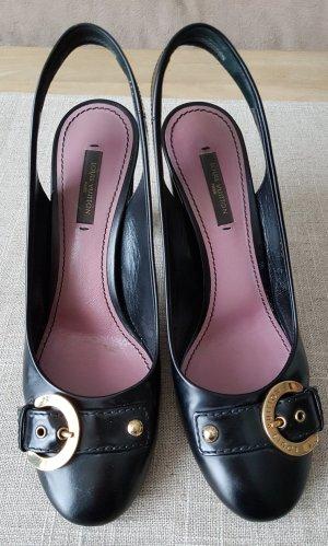 Louis Vuitton Slingback Pumps black leather