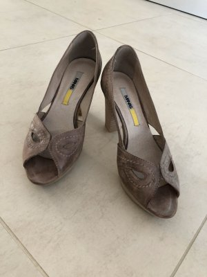 Manas Peep Toe Pumps grey brown
