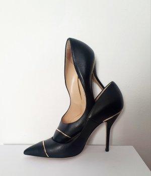 Paul Andrew Stiletto noir cuir
