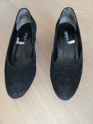 Pumps von Paul Green, schwarz, Velour Leder, Gr. 3 1/2
