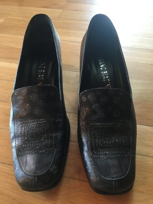 Loafer nero-argento Pelle
