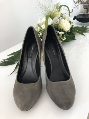 Zara Woman Plateauzool pumps zilver