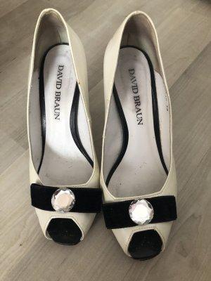 David Braun Mary Jane Pumps white leather